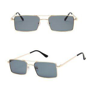 Retro Square Aviators Vintage Style Sunglasses Black